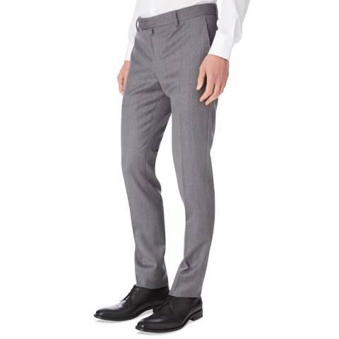 Hackett London Grey Mayfair Stretch Trousers