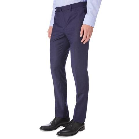 Hackett London Blue Pinhead Suit Trousers