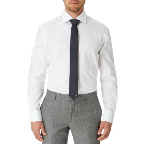 Hackett London White Mayfair Slim Fit Cotton Shirt