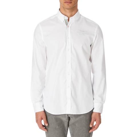 Hackett London White Oxford Aston Martin Cotton Shirt