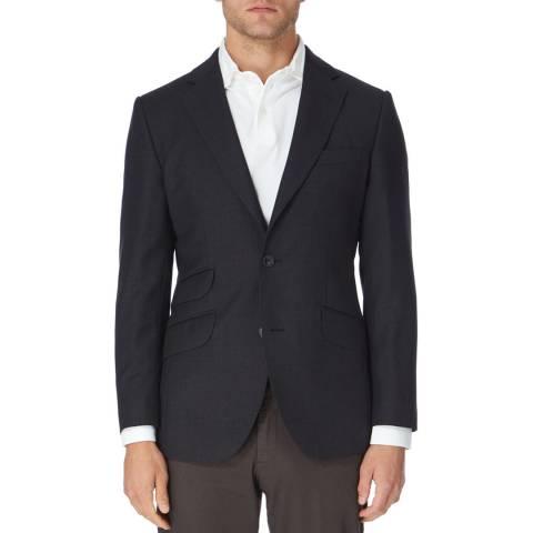 Hackett London Charcoal Wool Suit Jacket