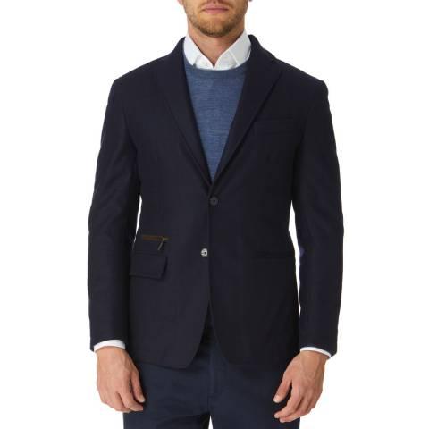 Hackett London Navy Mayfair Wool Wool Suit Jacket