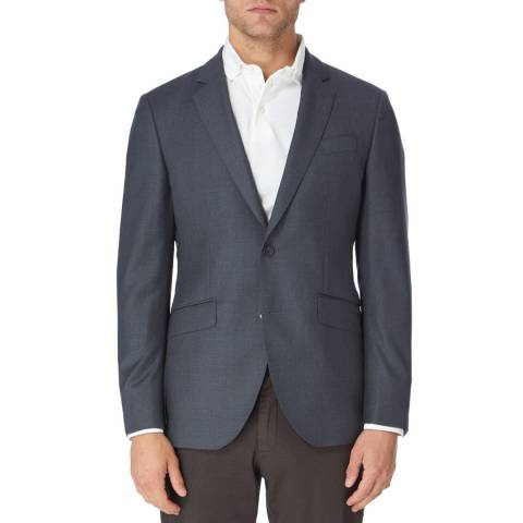 Hackett London Grey Wool Twill Suit Jacket