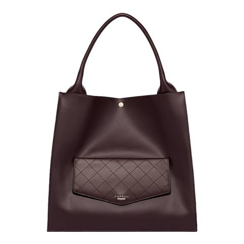 Fiorelli Aubergine Penton Quilted Pocket Shoulder Bag