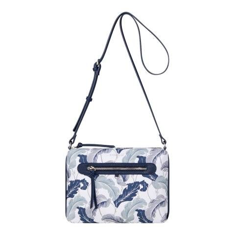 Fiorelli White Linear Leaf Printed Canvas Crossbody