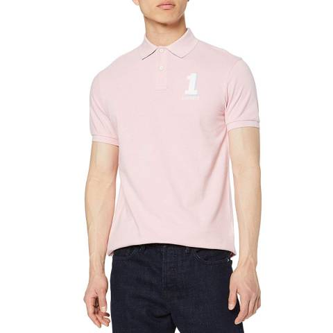 Hackett London Pink New Classic Cotton Polo Shirt