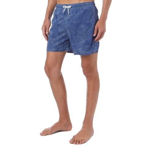Hackett London Indigo Palm Swim Shorts