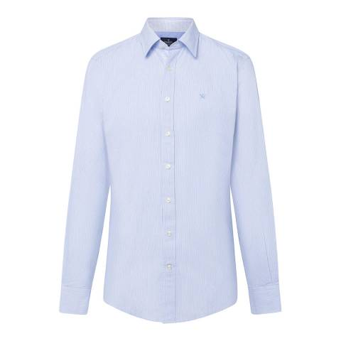 Hackett London Blue/Multi Mini Line Stripe Cotton Shirt