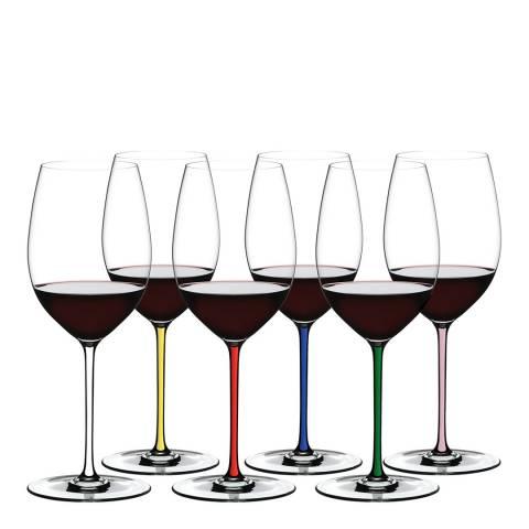 Riedel Set of 6 Fatto A Mano Cabernet/Merlot Glasses