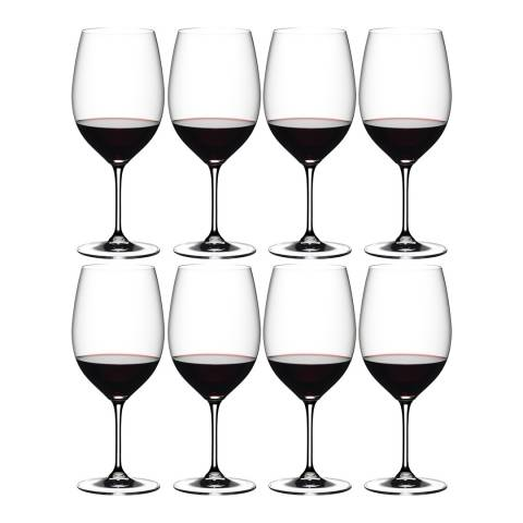 Riedel Set of 8 Vinum Bordeaux Glasses