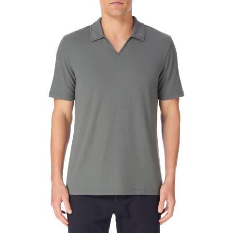 Reiss Khaki Charles Open Neck Polo Shirt