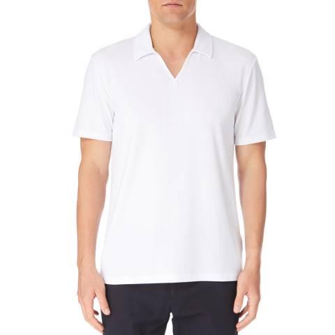 Reiss White Charles Open Neck Polo Shirt