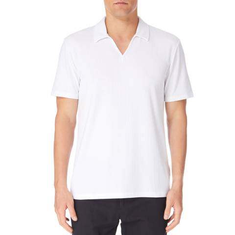 Reiss White Charles Open Neck Polo Shirt