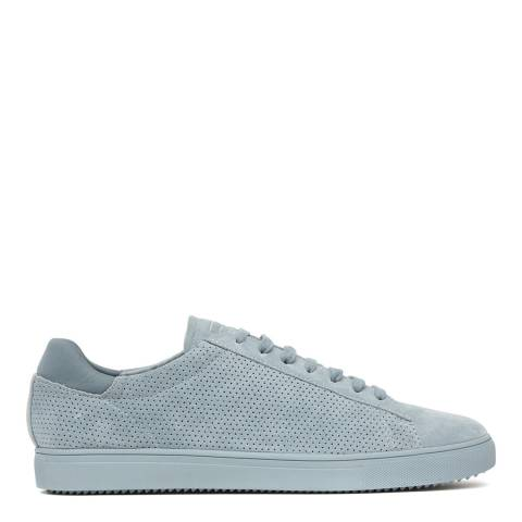 Reiss Blue Bradley Clae Leather Trainers