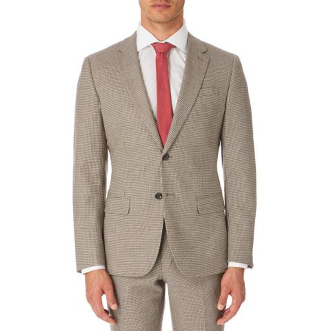 Reiss Latte Broadwalk Slim Suit Jacket