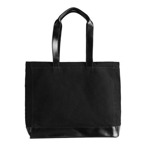 Reiss Black Milsom Canvas Tote Bag