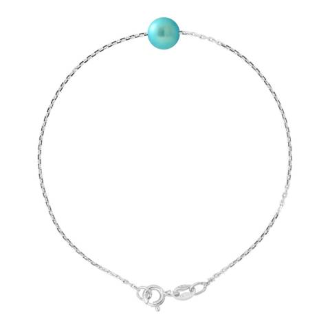 Manufacture Royale Silver Bracelet with Turquoise Pearl 7-8 mm