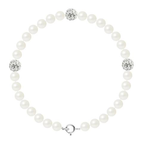 Manufacture Royale White Pearl Bracelet 5-6 mm