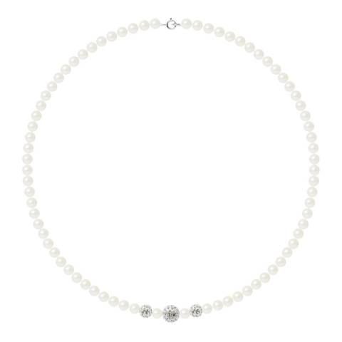 Manufacture Royale White Pearl Necklace 7-8mm
