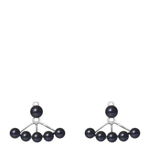 Manufacture Royale Black Pearl Earrings 4-6mm
