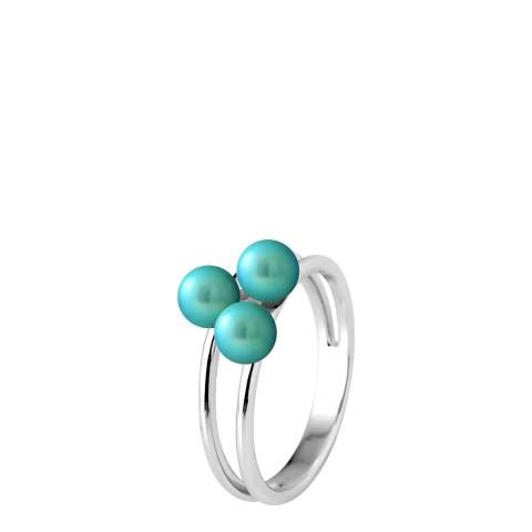 Manufacture Royale Turquoise Triple Pearl Ring 5-6mm