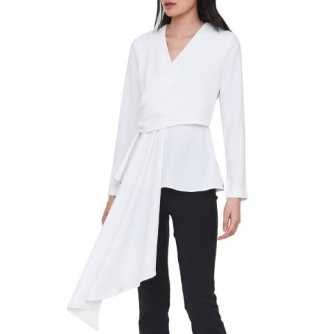 Outline White Manor Wrap Top