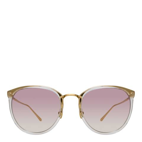Linda Farrow Light Gold Oval Sunglasses