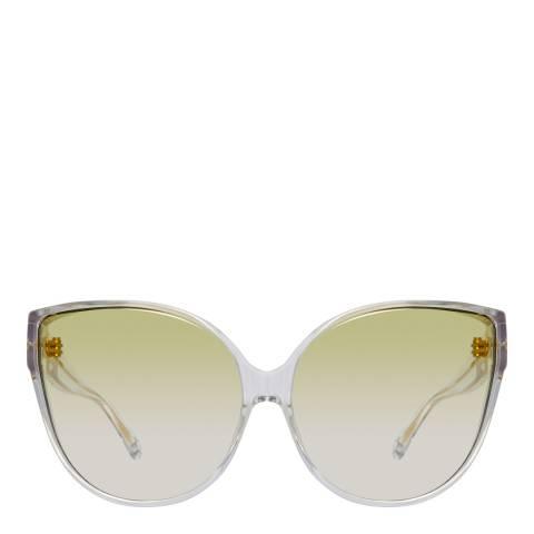 Linda Farrow Yellow Gold Gradient Cat Eye Sunglasses