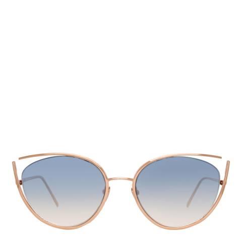 Linda Farrow Rose Gold Fontaine Cat Eye Sunglasses