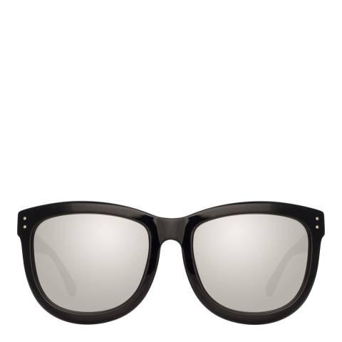 Linda Farrow Black Gold Bella D-Frame Sunglasses