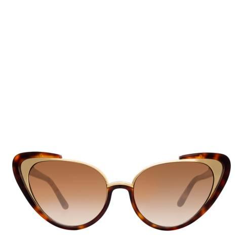 Linda Farrow Tortoiseshell Khira Cat Eye Sunglasses