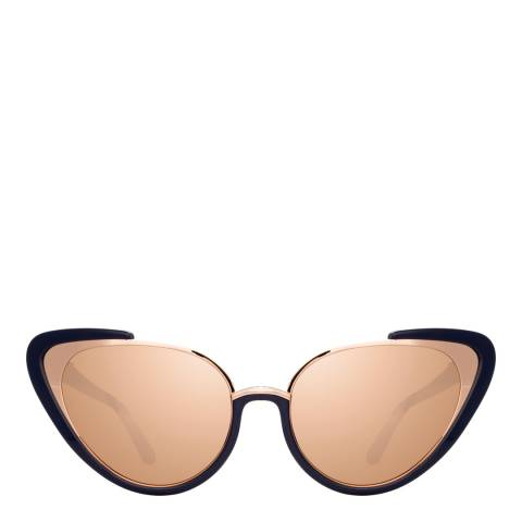 Linda Farrow Rose Gold Khira Cat Eye Sunglasses