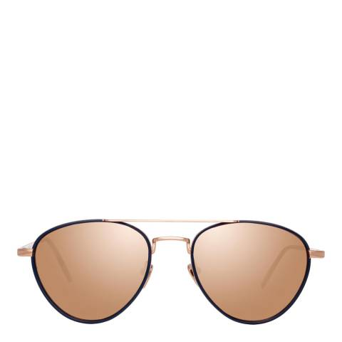 Linda Farrow Rose Gold Haye Aviator Sunglasses