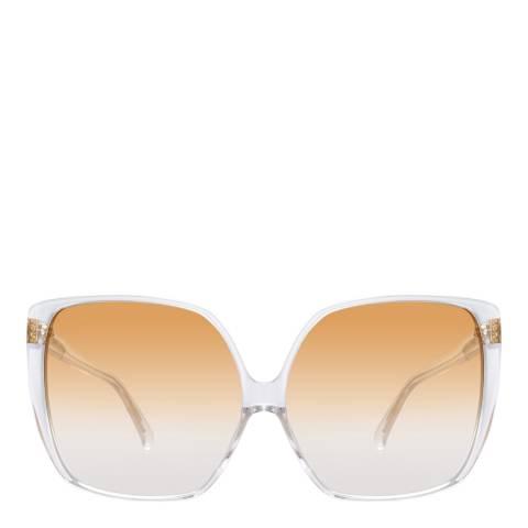 Linda Farrow Gold Ines Oversized Sunglasses