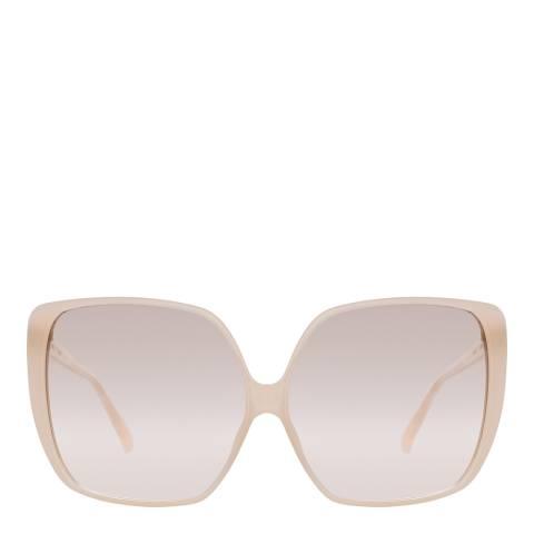 Linda Farrow Milky Pink Ines Oversized Sunglasses