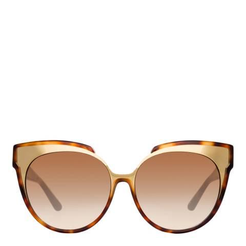 Linda Farrow Tortoiseshell Sami Oversized Sunglasses