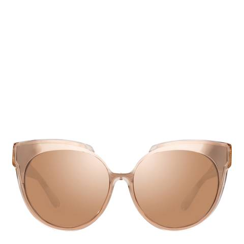 Linda Farrow Ash Rose Gold Sami Overized Sunglasses