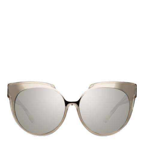 Linda Farrow Truffle Sami Oversized Ruffle Sunglasses