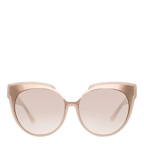 Linda Farrow Milky Pink Sami Oversized Sunglasses
