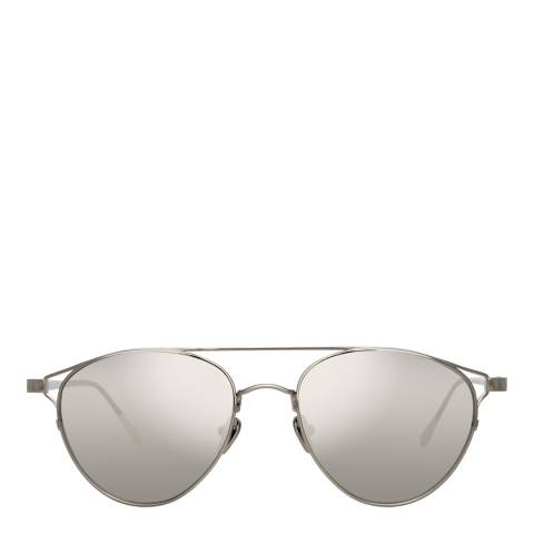 Linda Farrow White Gold Omar Aviator Sunglasses