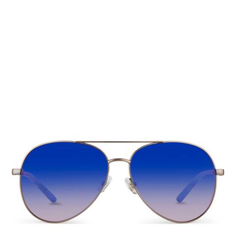 Mathew Williamson Matt Gun Mauve Aviator Sunglasses