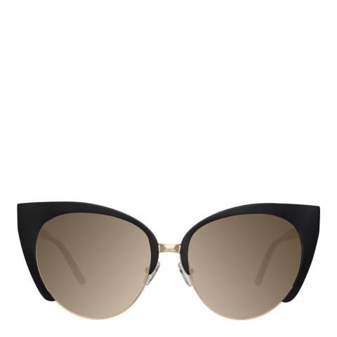 Mathew Williamson Black Light Gold Cat Eye Sunglasses