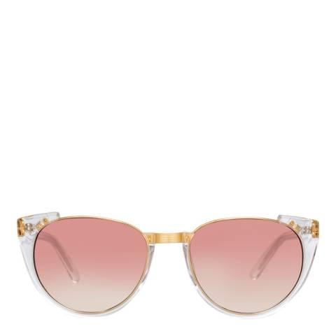 Linda Farrow Yellow Gold Cat Eye Sunglasses