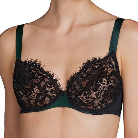 Andres Sarda Black Megeve Underwired D-E Cup Bra