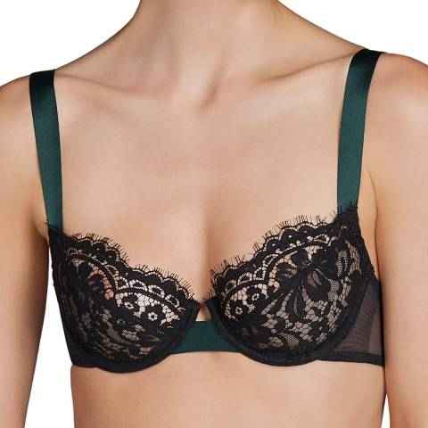 Andres Sarda Black Megeve Underwired B-C Cup Bra