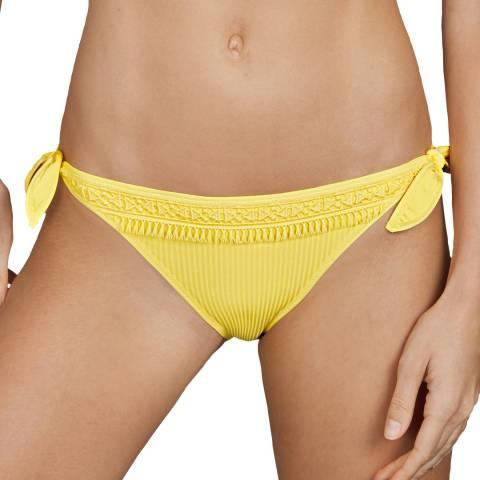 Andres Sarda Yellow Aracari Bikini briefs tie side