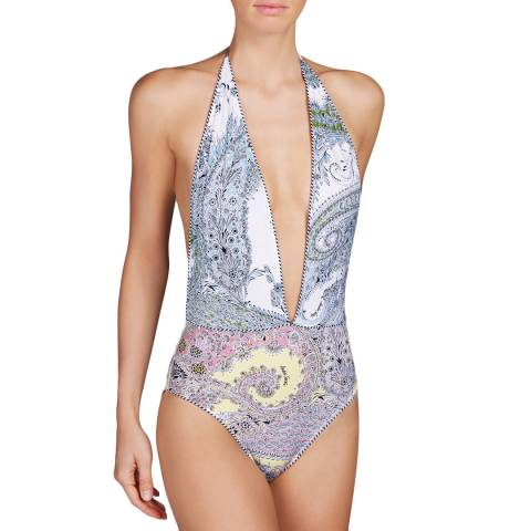 Andres Sarda White/Multi Heron Special Swimsuit
