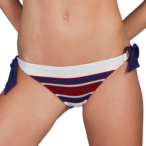 Andres Sarda Navy/Multi Pitta Bikini Tie Side Brief