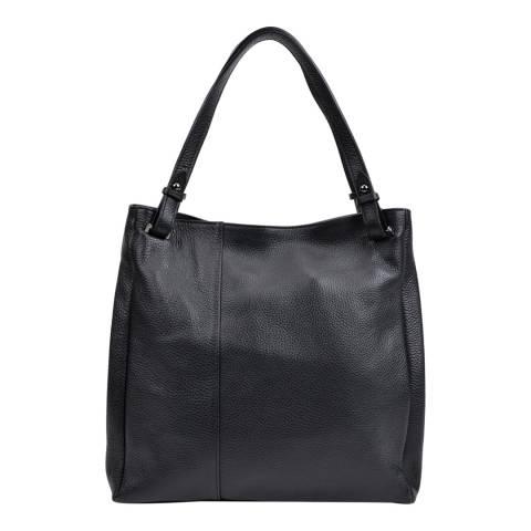 Anna Luchini Black Leather Shoulder Bag