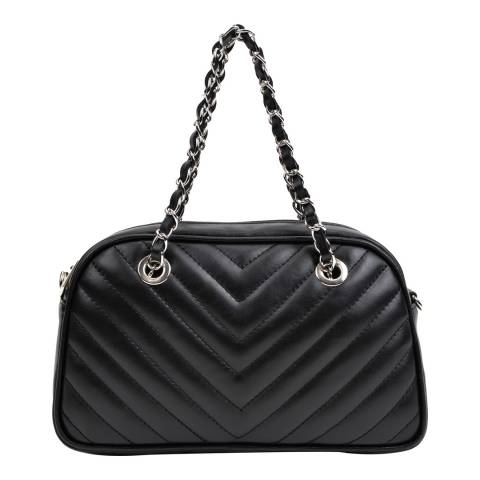 Anna Luchini Black Leather Shoulder Bag